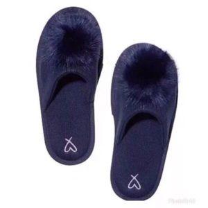 Victoria's Secret Navy Cozy bed slippers